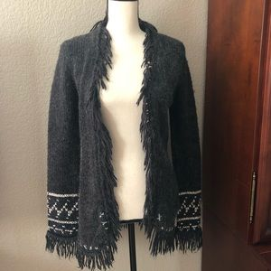 Free People open cardigan with fringe